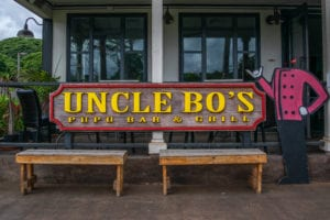 Uncle Bo's Haleiwa Sign