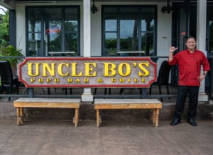 Uncle Bo's Haleiwa Sign (Real Chef Bo)